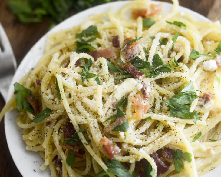 Weight Watcher's Spaghetti Carbonara