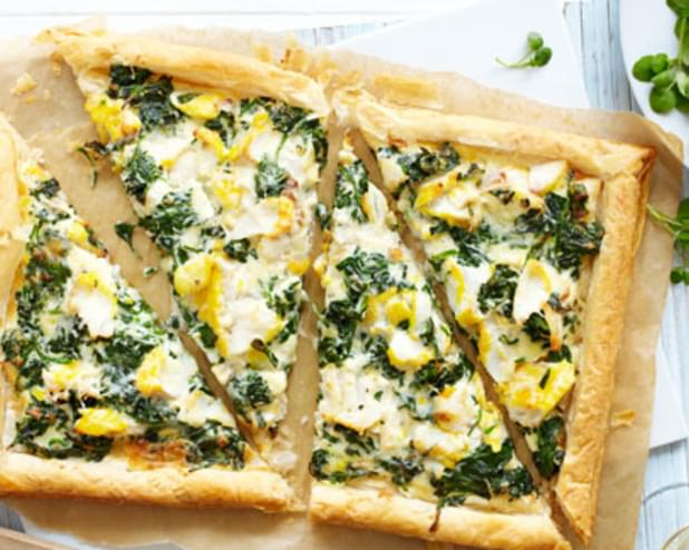 Smoked Haddock And Spinach Tart