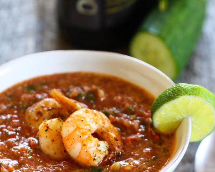 Summer Gazpacho with Shrimp