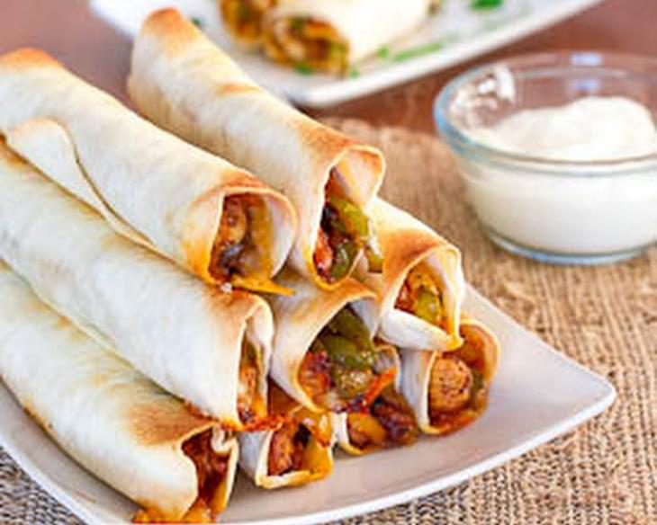 Chicken Fajita Taquitos
