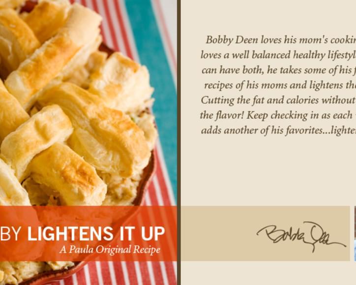 Bobbyâs Lighter Chicken Pot Pie Recipe