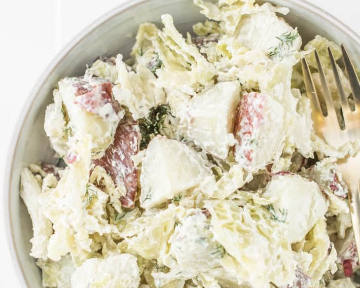 Potato Salad with Cabbage + Dill (gf)
