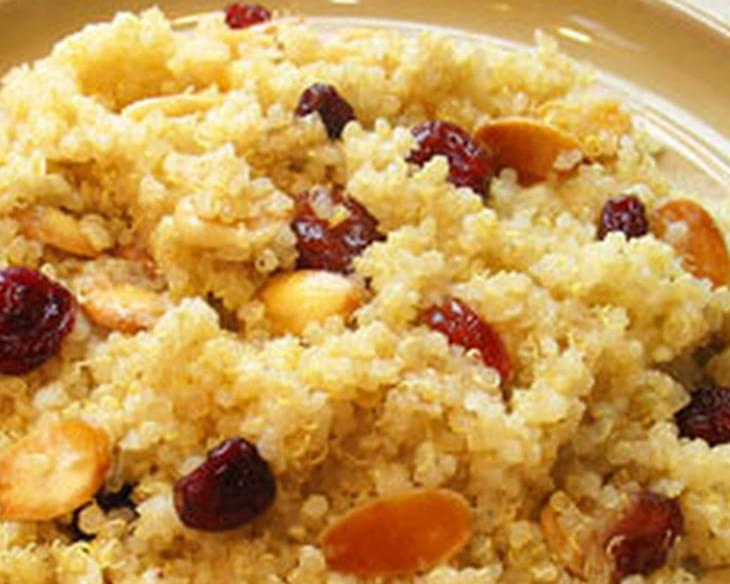Quinoa With Toasted Almonds & Dried Cranberries
