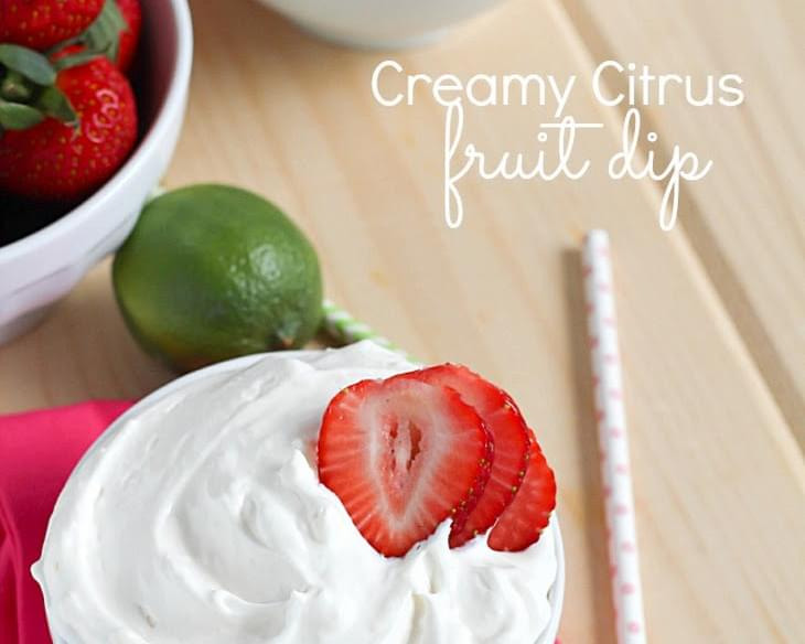 Creamy Citrus Fruit Dip