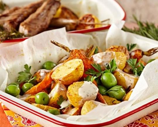 Roasted Moroccan Potato and Carrot Salad