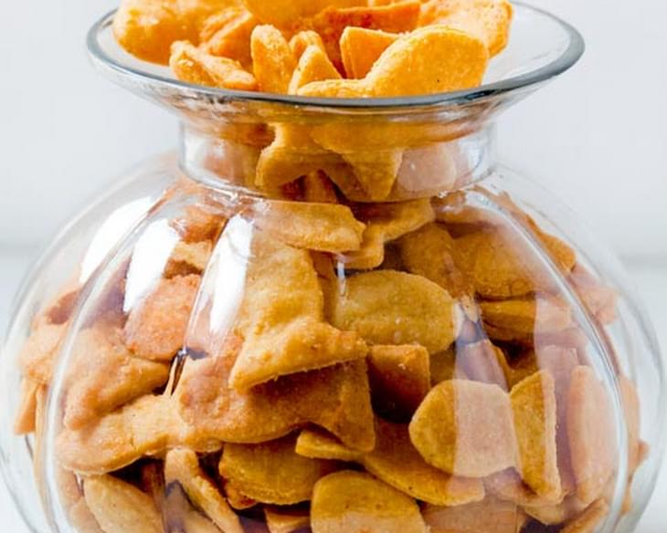 Cheesy Fish Crackers
