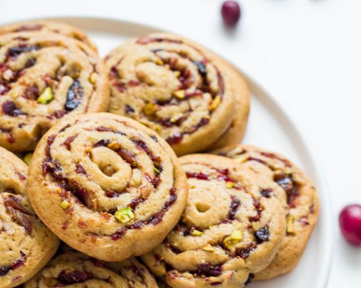 Date, Fig and Cranberry Pinwheel Cookies