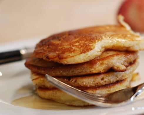 Spiced Pear Pancakes for Fall