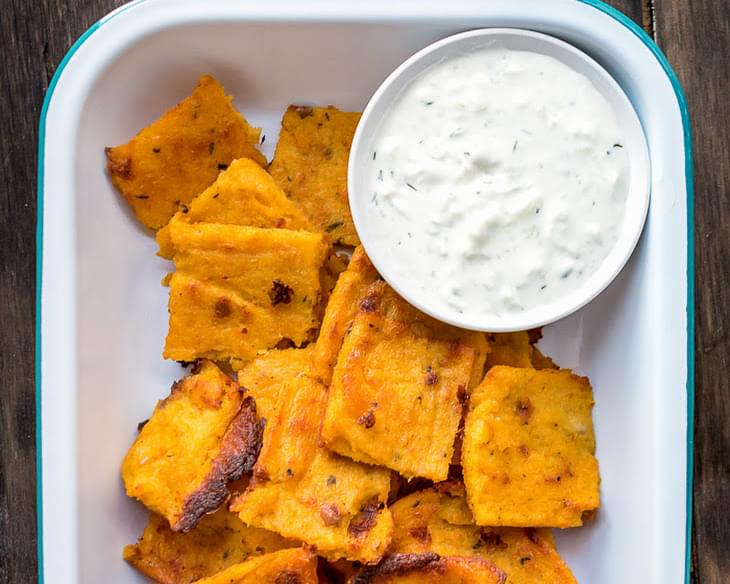 Pumpkin Polenta Chips