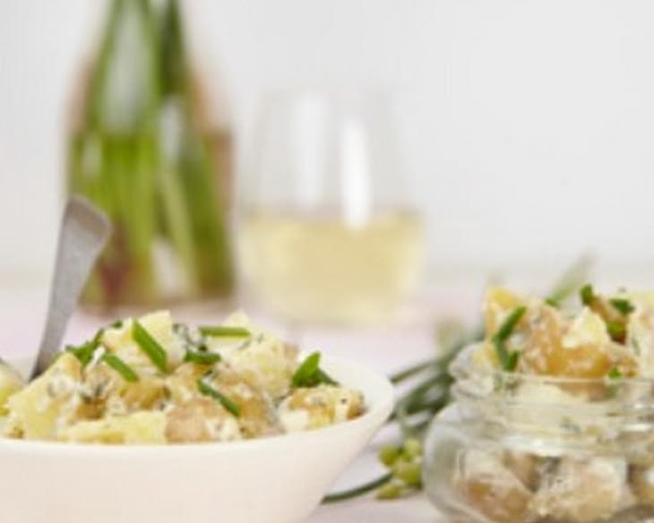 Potato Salad with Chive & Garlic Blossoms