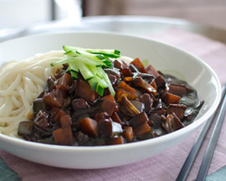 Jjajangmyun the korean chinese noodles with black bean paste recipe jjajangmyun the korean chinese noodles with black bean paste forumfinder Image collections