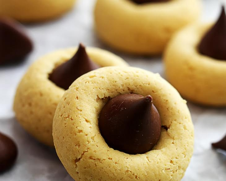 Chocolate Pumpkin Thumbprint Cookies