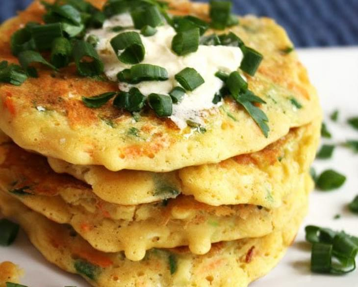 Healthier Zucchini & Carrot Stuffed Fritters