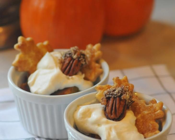 "Thanksgiving Recipe | Mini ""deconstructed"" Pumpkin Pies"