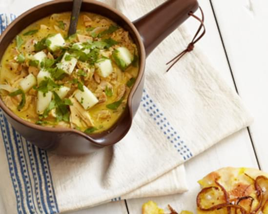 Chicken Mulligatawny Soup with Apples