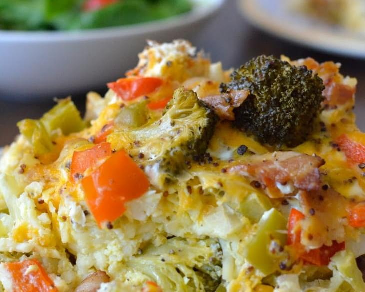 Healthy Crockpot Breakfast Casserole