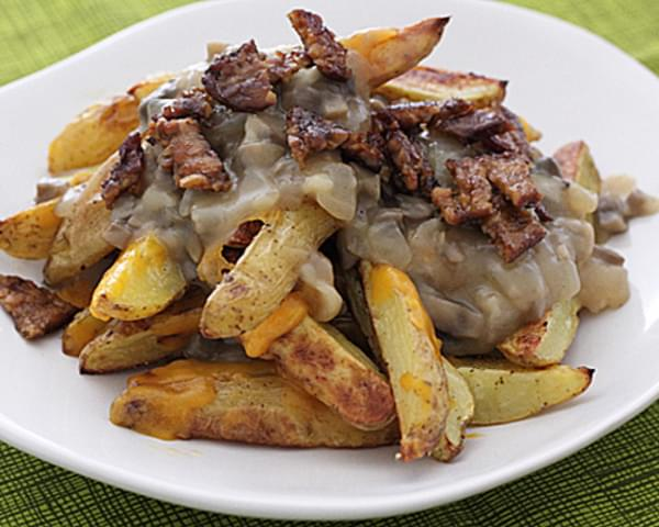 Vegetarian Poutine with Bacon