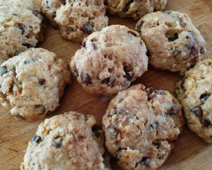Skinny Oatmeal Chocolate Chip Coconut Cookies (clean Eats/vegan)