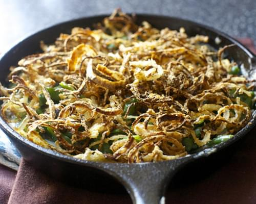 Green Bean Casserole with Crispy Onions
