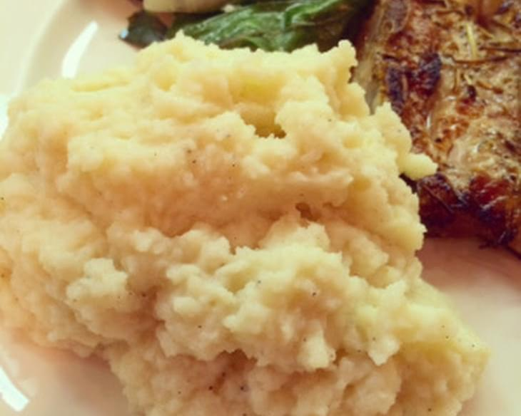 "Goat Cheese Creamy Mashed ""Potatoes"""