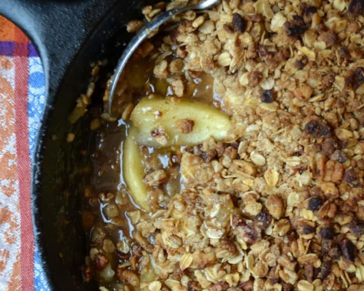 Skillet Apple Pecan Crumble