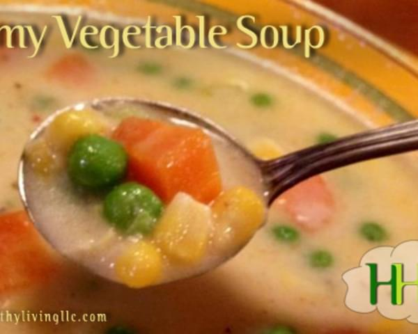 Spiced up Cream of Vegetable Soup