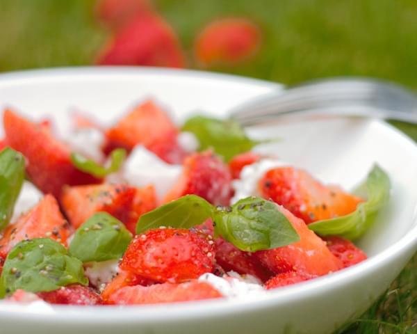Strawberry Caprese Bowl