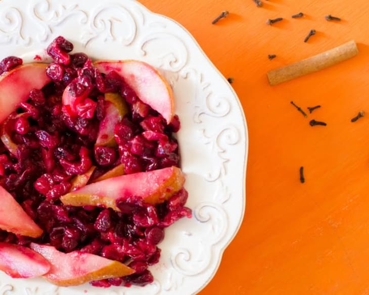 Roasted Cranberry Pear Sauce Recipe