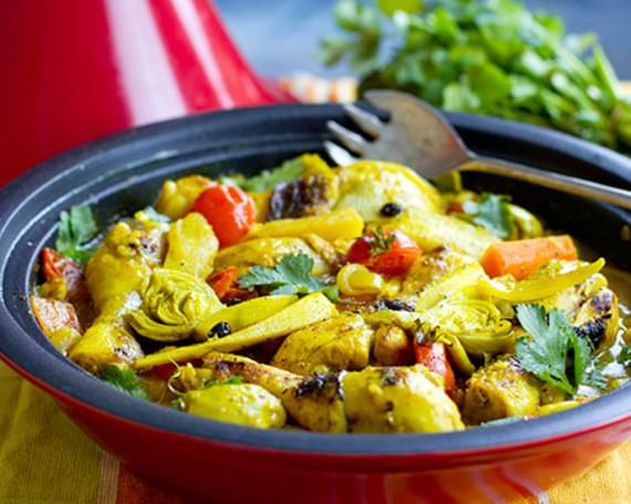 Under $25: Chicken Tagine with Parsnips & Artichokes
