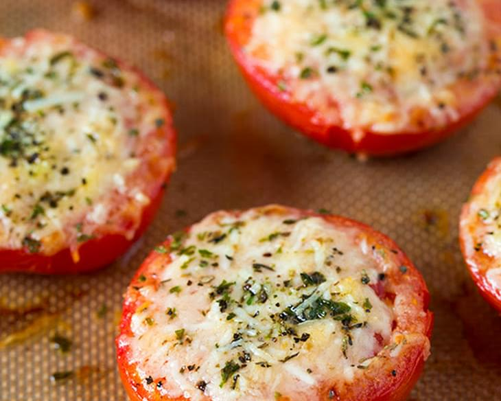 Parmesan and Asiago Cheese Roasted Tomatoes