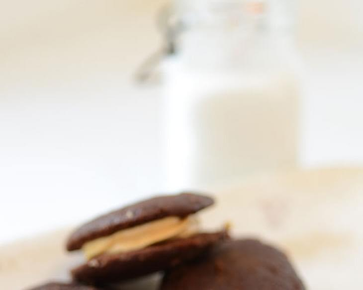 Chocolate Peanut Butter Whoopie Pies