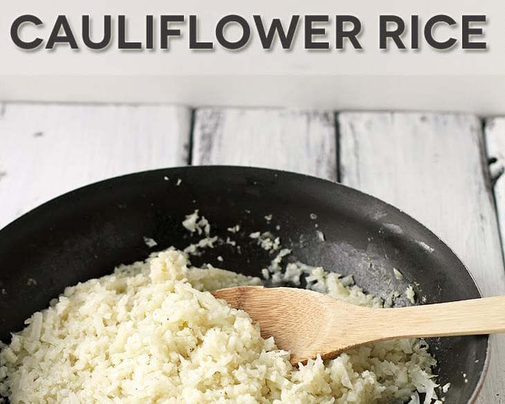 HOW TO MAKE BASIC CAULIFLOWER RICE
