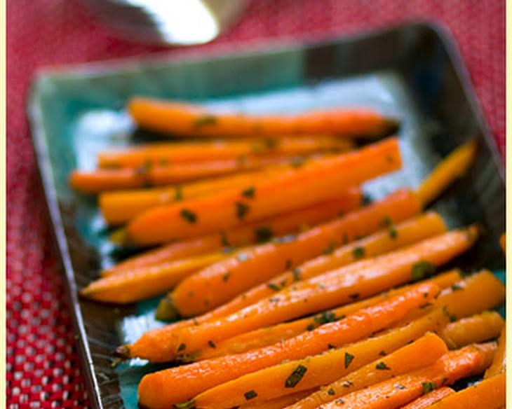 Gingered Carrots with Cumin and Basil