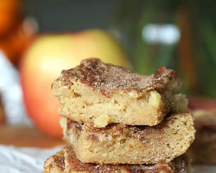 Chunky Apple Snickerdoodle Bars