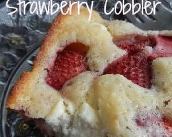 Cream Cheese & Strawberry Cobbler