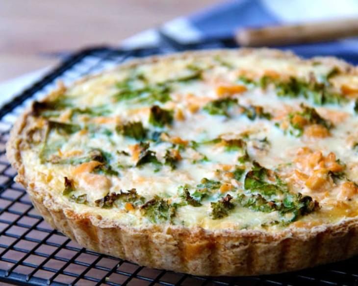 Salmon & Kale Quiche