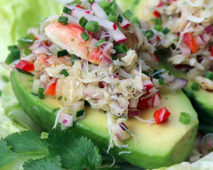Crab Salad Stuffed Avocados