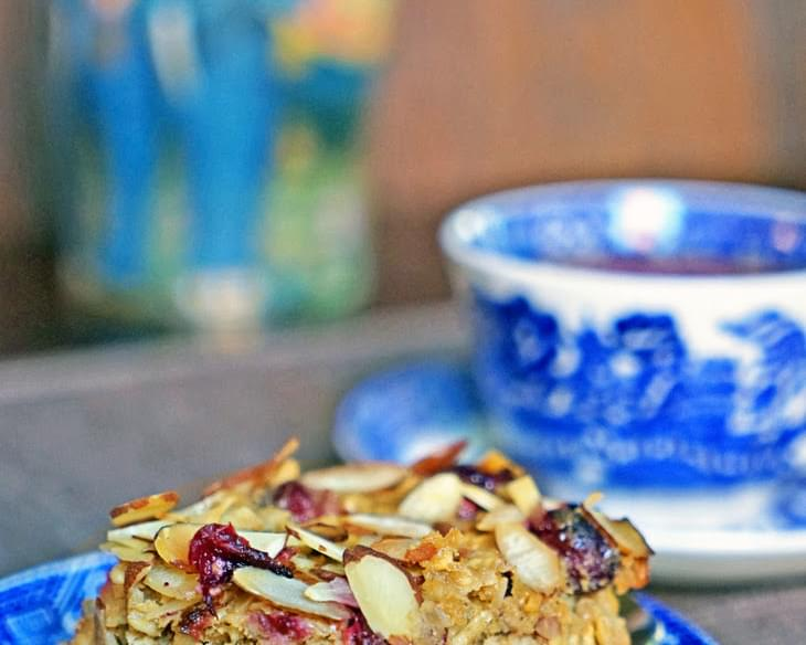 Cranberry, Apple Butter Oatmeal Bake