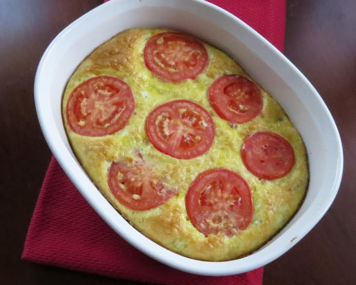 Baked Frittata w/ Turkey Sausage, Gruyere and Tomatoes