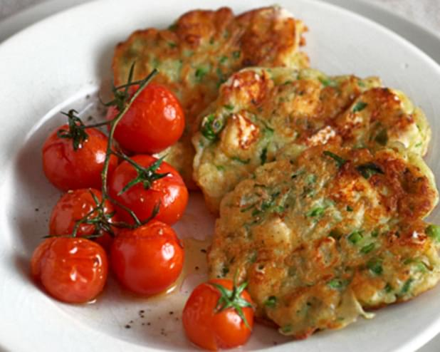 Pea, Feta And Herb Fritters