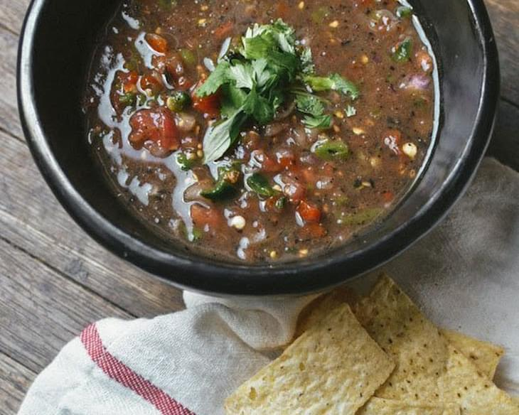 Hot & Smoky Roasted Poblano Pepper Salsa