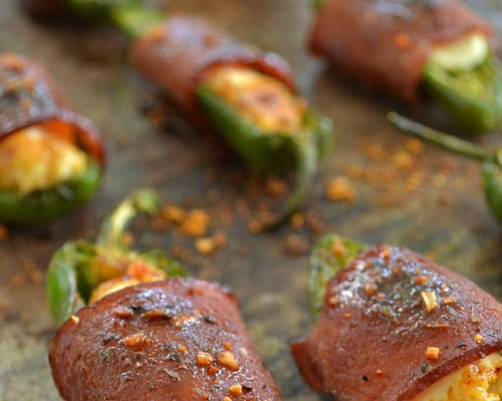 Sweet 'n' Spicy Bacon-Wrapped Jalapeno Poppers