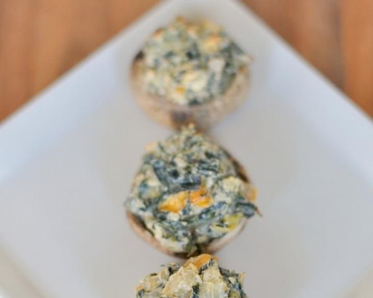 Spicy Spinach Artichoke Stuffed Mushrooms Recipe
