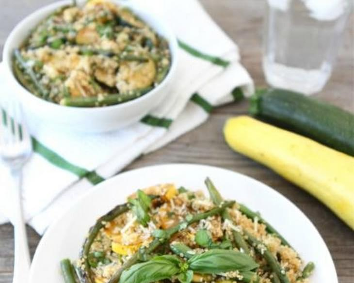 Quinoa with Grilled Summer Squash & Green Beans