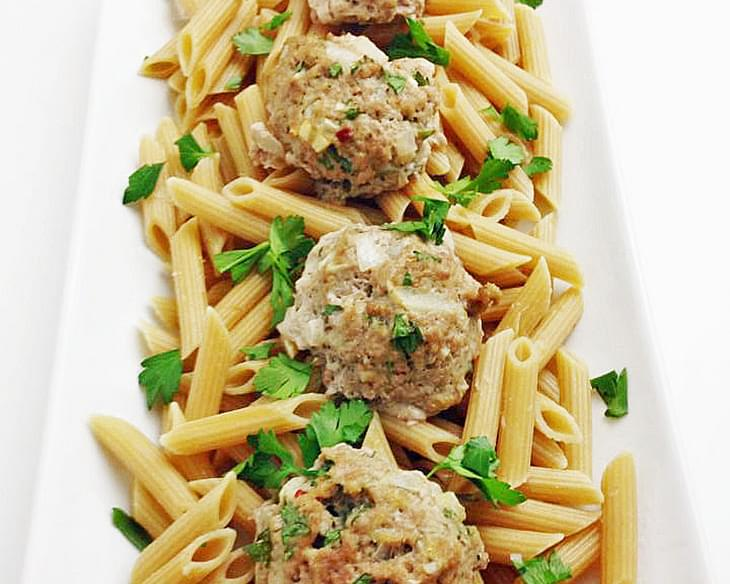 Turkey Picatta Meatballs