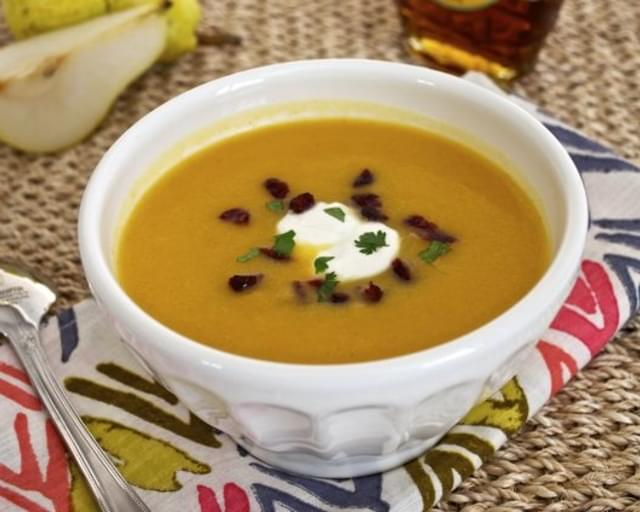 Roasted Butternut Squash and Pear Soup