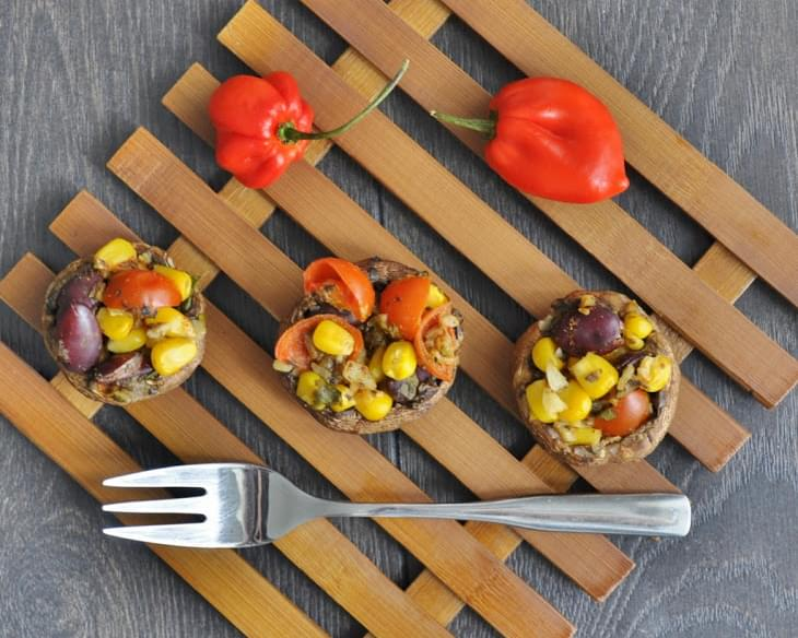 Easy Mexican Stuffed Mushrooms