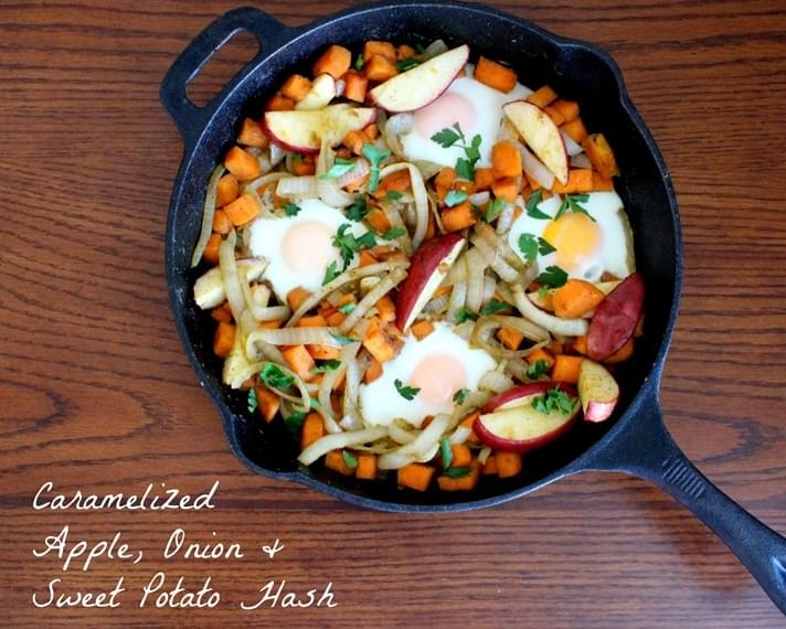 Caramelized Apple, Onion & Sweet Potato Hash