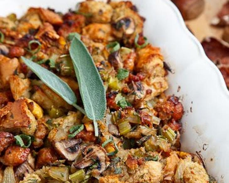 Italian Sausage, Mushroom and Chestnut Stuffing