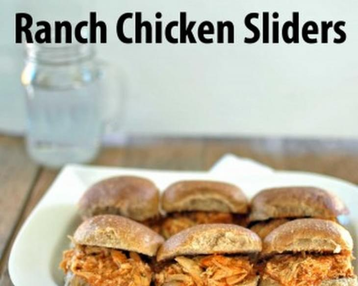 Slow Cooker Buffalo Ranch Chicken Sliders